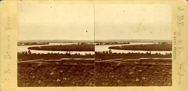A stereographic image from the New Brunswick Museum archives shows Long Island as it would have appeared between 1875 and 1878.