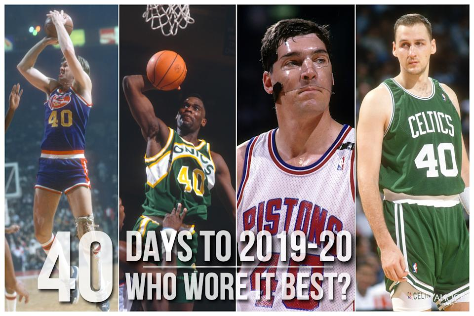 Which NBA player wore No. 40 best?