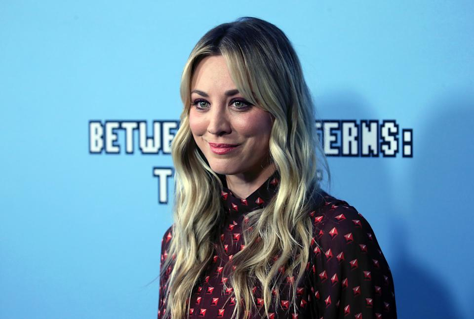 """HOLLYWOOD, CALIFORNIA - SEPTEMBER 16: Kaley Cuoco attends the LA premiere of Netflix's """"Between Two Ferns: The Movie"""" at ArcLight Hollywood on September 16, 2019 in Hollywood, California. (Photo by David Livingston/Getty Images)"""