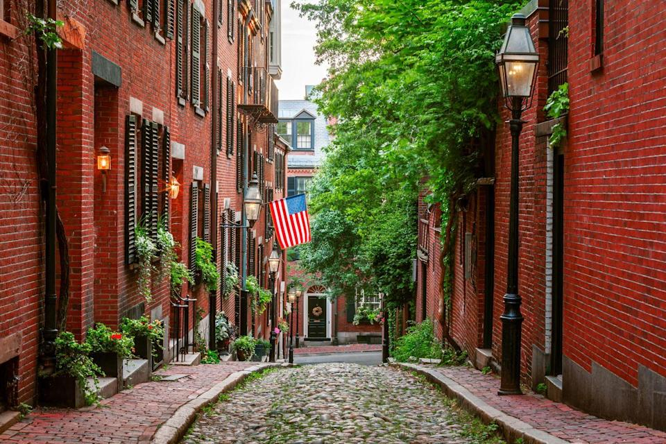 """<p>From the historic brick facades of Beacon Hill to the picturesque views of the Charles River, Boston simmers with cultural intrigue. Foodies should head to the North End for a taste of authentic Italian cuisine and Chinatown for delectable dim sum. For those looking for a green escape, head to <a href=""""https://arboretum.harvard.edu/"""" rel=""""nofollow noopener"""" target=""""_blank"""" data-ylk=""""slk:Arnold Arboretum"""" class=""""link rapid-noclick-resp"""">Arnold Arboretum</a> at Harvard University, which houses more than 281 acres and 16,000 accessioned plants. </p><p>Can't miss beautiful places: <a href=""""https://www.gardnermuseum.org/"""" rel=""""nofollow noopener"""" target=""""_blank"""" data-ylk=""""slk:Isabella Stewart Gardner Museum"""" class=""""link rapid-noclick-resp"""">Isabella Stewart Gardner Museum</a>, Acorn Street, and <a href=""""https://www.bpl.org/"""" rel=""""nofollow noopener"""" target=""""_blank"""" data-ylk=""""slk:Boston Public Library"""" class=""""link rapid-noclick-resp"""">Boston Public Library</a><br></p>"""
