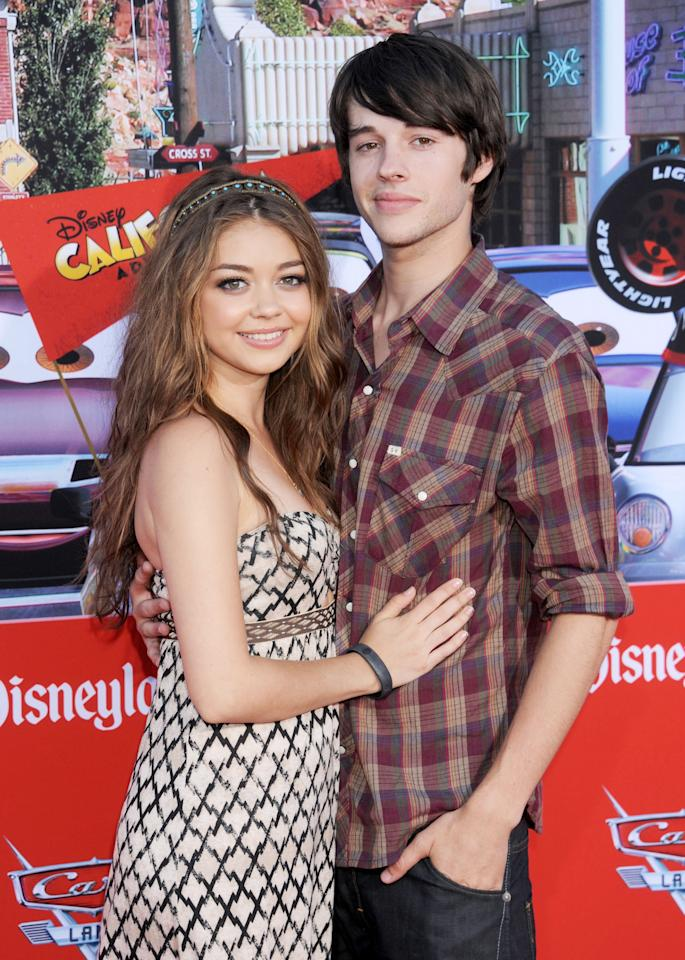 Sarah Hyland plays a teen queen on the show but is actually a 21-year-old who has been dating actor Matt Prokop (pictured) since they met at an audition. She's also had her share of challenges. Earlier this year, she received a kidney transplant from her father after a lifetime battle with kidney dysplasia.   (Photo by Gregg DeGuire/WireImage)