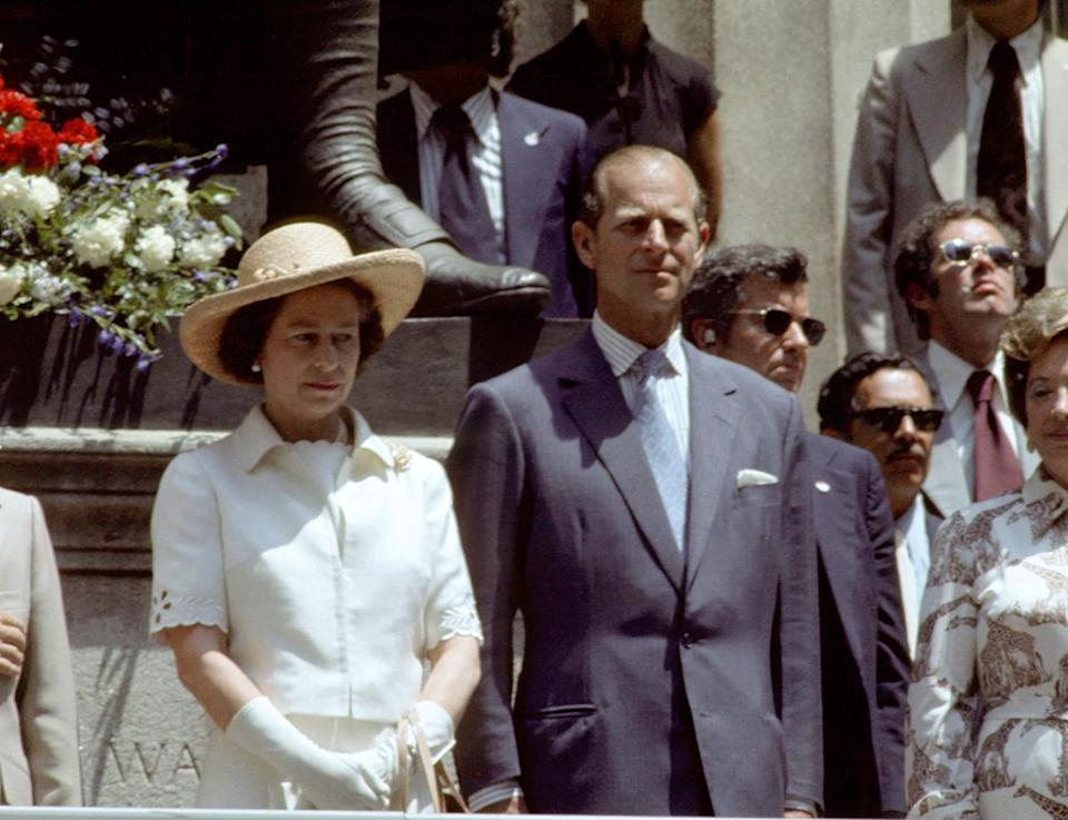 """<p>Queen Elizabeth II and Prince Philip made a visit to the city so nice that they named it twice in July 1976, making a stop at Federal Hall, where George Washington was inaugurated and she was <a href=""""https://www.nytimes.com/1976/07/10/archives/queen-warmly-received-on-new-york-city-tour-queen-warmly-received.html"""" rel=""""nofollow noopener"""" target=""""_blank"""" data-ylk=""""slk:proclaimed an honorary New York citizen"""" class=""""link rapid-noclick-resp"""">proclaimed an honorary New York citizen</a>. </p>"""