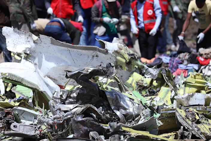 Wreckage is seen at the scene of the Ethiopian Airlines Flight ET 302 plane crash, near the town of Bishoftu, southeast of Addis Ababa, Ethiopia March 11, 2019. (Photo: Tiksa Negeri/Reuters)
