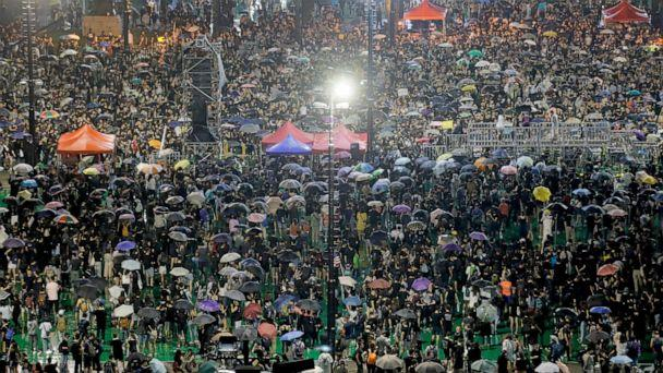 PHOTO: Demonstrators attend a rally at Victoria Park in Hong Kong, Aug. 18, 2019. (Kin Cheung/AP)