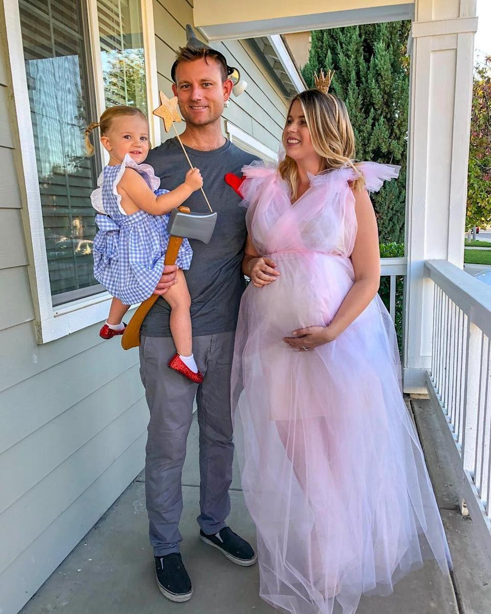 """<p>Glinda the Good Witch, the Tin Man, and Dorothy have never looked so cute! With some tulle and a few extra accessories, you and your family can copy this amazing group costume.</p><p><a class=""""link rapid-noclick-resp"""" href=""""https://www.amazon.com/BBCrafts-Light-Polyester-Tulle-Fabric/dp/B0071VNKB2/ref=sr_1_6?tag=syn-yahoo-20&ascsubtag=%5Bartid%7C10055.g.28073110%5Bsrc%7Cyahoo-us"""" rel=""""nofollow noopener"""" target=""""_blank"""" data-ylk=""""slk:SHOP PINK TULLE"""">SHOP PINK TULLE</a></p><p><em><a href=""""https://www.instagram.com/mrsrachelkenny/"""" rel=""""nofollow noopener"""" target=""""_blank"""" data-ylk=""""slk:See more on Rachel Kenny's Instagram »"""" class=""""link rapid-noclick-resp"""">See more on Rachel Kenny's Instagram »</a></em></p>"""