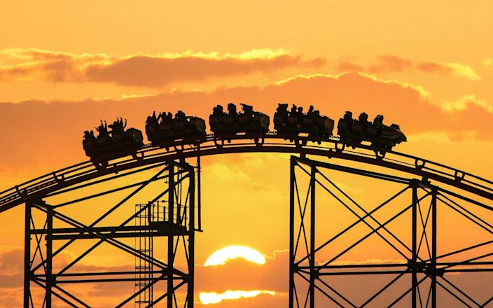 Take a sunset ride on one of the coasters at Blackpool Pleasure Beach - Gary Telford