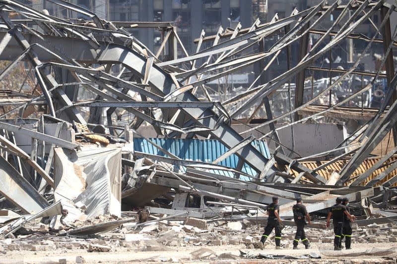 Aftermath of Tuesday's blast in Beirut's port area