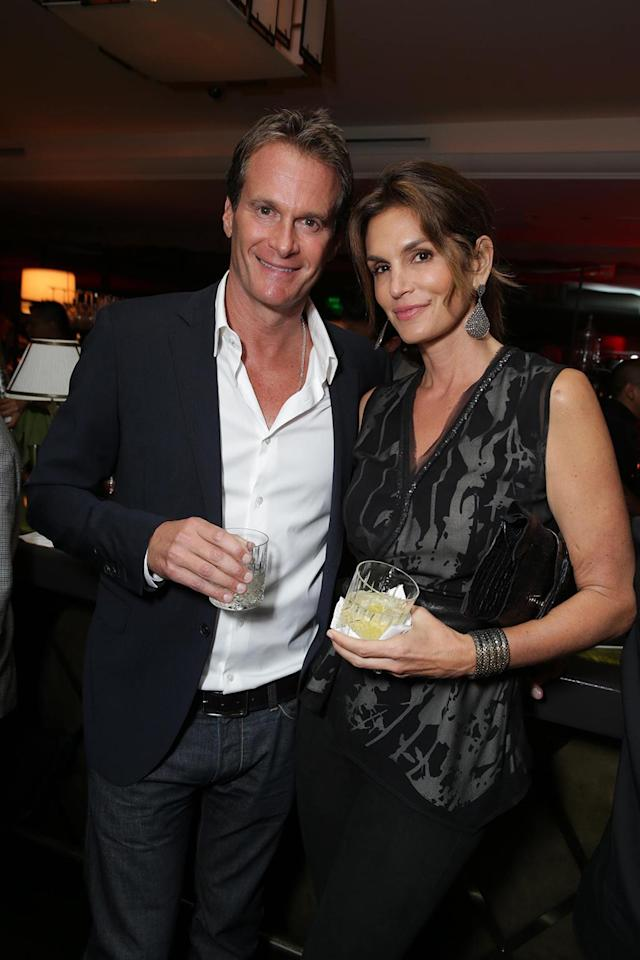 Rande Gerber and Cindy Crawford at the Showtime premiere of the new drama series Ray Donovan presented by Time Warner Cable, on Tuesday, June, 25, 2013 in Los Angeles. (Photo by Eric Charbonneau/Invision for Showtime/AP Images)