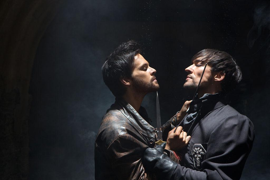 "Leonardo Da Vinci (Tom Riley) and Count Riario (Blake Ritson) in ""Da Vinci's Demons"" on Starz."
