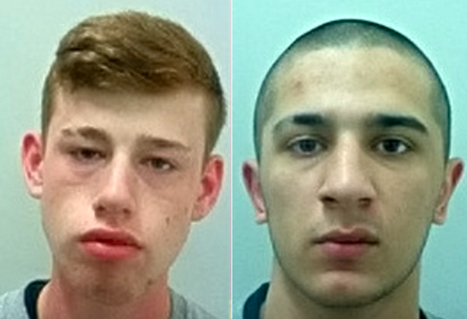 Kaylib Connolly (left) and Dean Qayum (right) were both sentenced to life for their part in the killing of Alison McBlain. (SWNS)