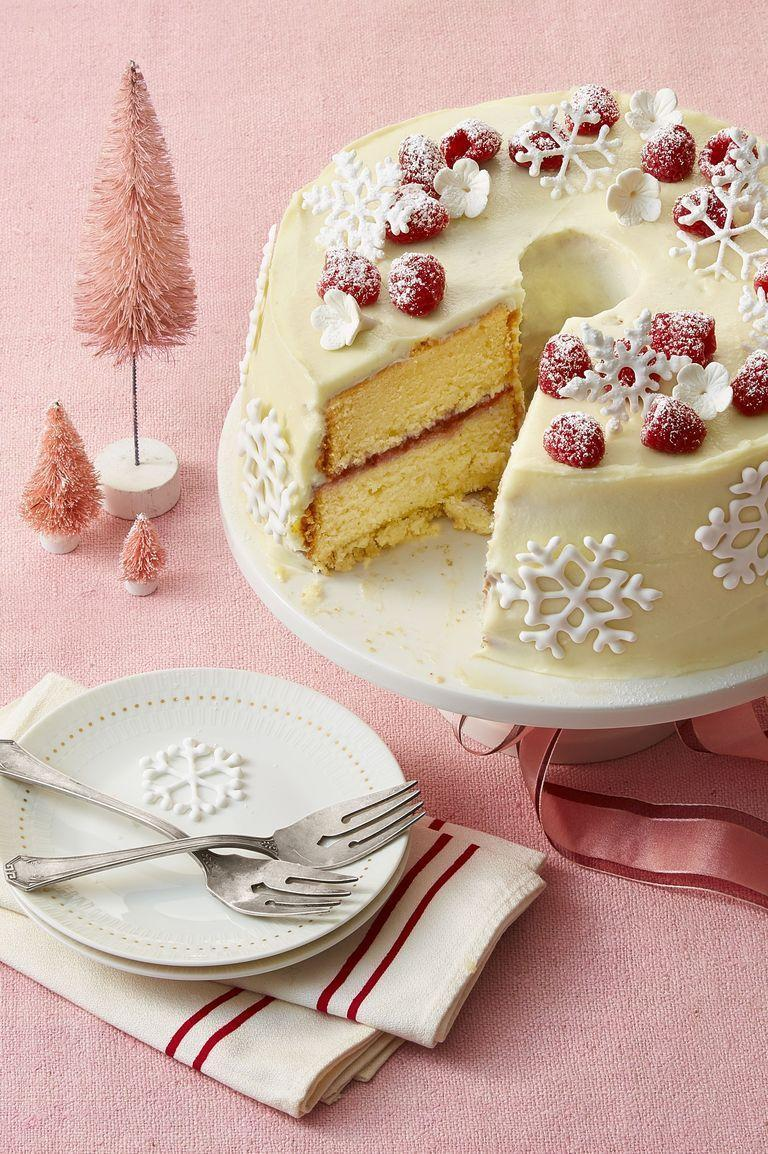 """<p>This double white chocolate cake provides a beautiful, bright canvas for adding colorful fruit, sprinkles, or other toppings to the design. It can be as simple or elaborate as you want. </p><p><em><strong><a href=""""https://www.womansday.com/food-recipes/food-drinks/a25348945/double-white-chocolate-cake-recipe/"""" rel=""""nofollow noopener"""" target=""""_blank"""" data-ylk=""""slk:Get the Double White Chocolate Cake recipe."""" class=""""link rapid-noclick-resp"""">Get the Double White Chocolate Cake recipe.</a></strong></em></p>"""