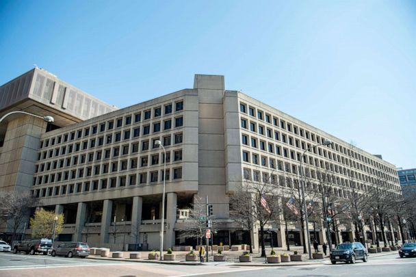 PHOTO: The J. Edgar Hoover Building of the Federal Bureau of Investigation (FBI) is seen, April 03, 2019, in Washington, DC. (Eric Baradat/AFP via Getty Images, FILE)
