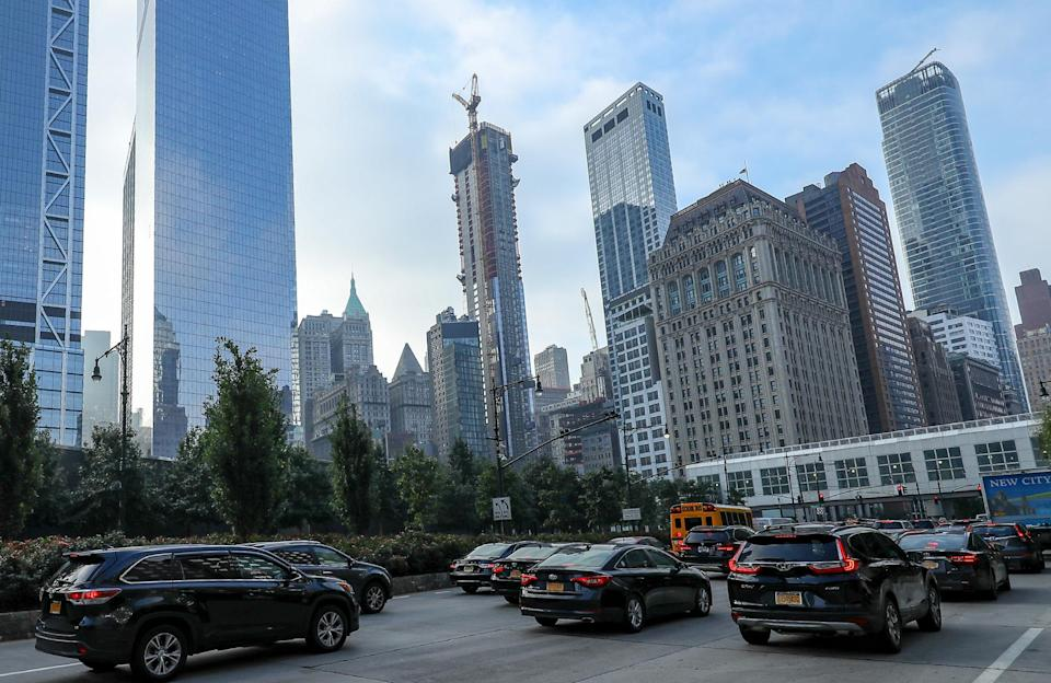 <p>The World Trade Center buildings and the National September 11 Memorial & Museum are seen from West Street on Sept. 5, 2018. (Photo: Gordon Donovan/Yahoo News) </p>