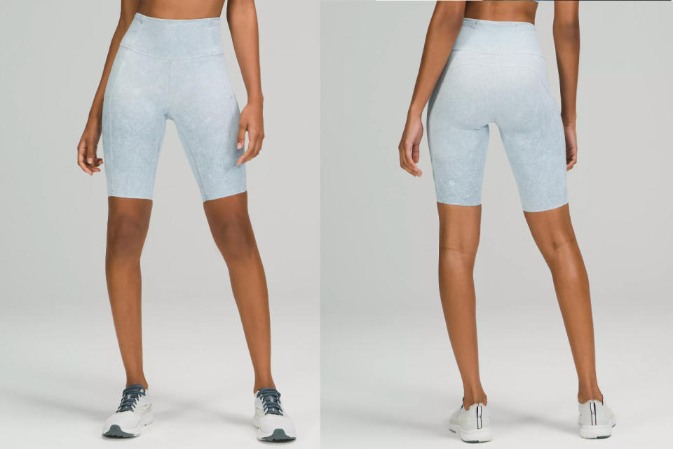 Lululemon shoppers say these bike shorts are great for larger thighs