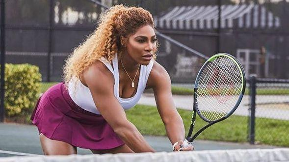 Determined Serena Williams training furiously after long flight to Auckland