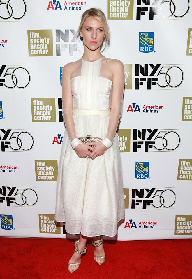 """NEW YORK, NY - SEPTEMBER 30:  Actress Mickey Sumner attends the """"Frances HA"""" - Gala Presentation - 50th New York Film Festival at Alice Tully Hall on September 30, 2012 in New York City.  (Photo by Robin Marchant/Getty Images)"""