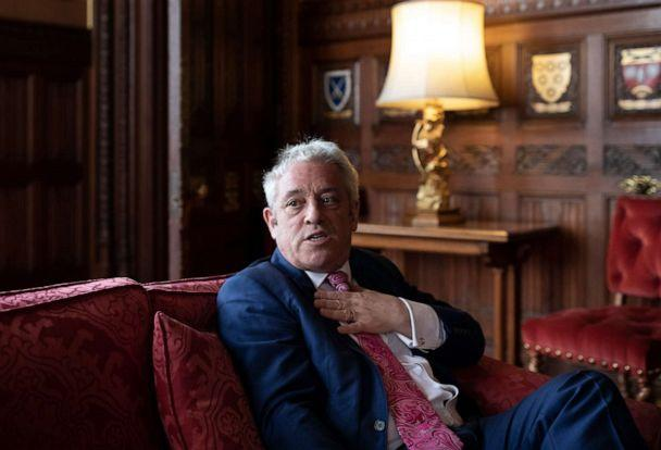 PHOTO: British politician, John Bercow MP, Speaker of the House of Commons conducts an interview inside the House of Commons on May 24, 2019 in London, England. (Dan Kitwood/Getty Images)