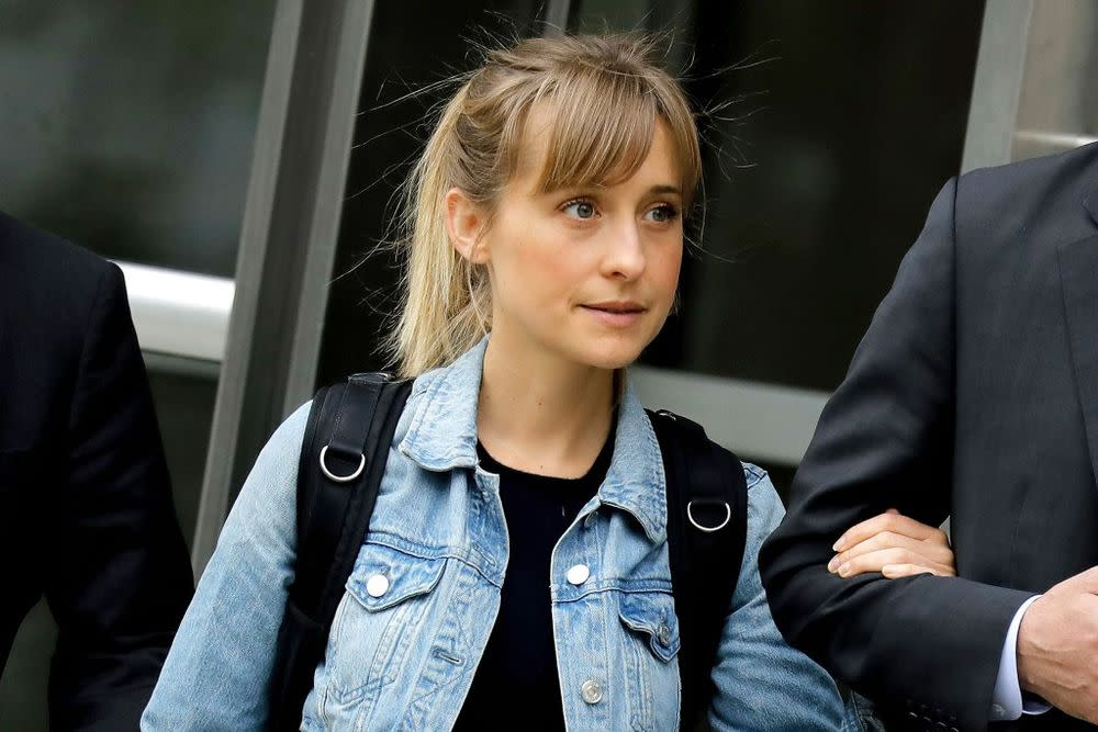 Allison Mack seen Tuesday leaving federal court