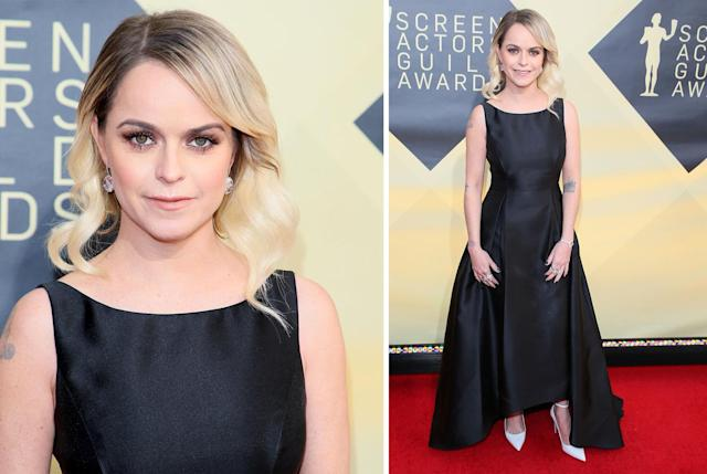 Taryn Manning on the SAG Awards red carpet. (Photo: Getty Images)