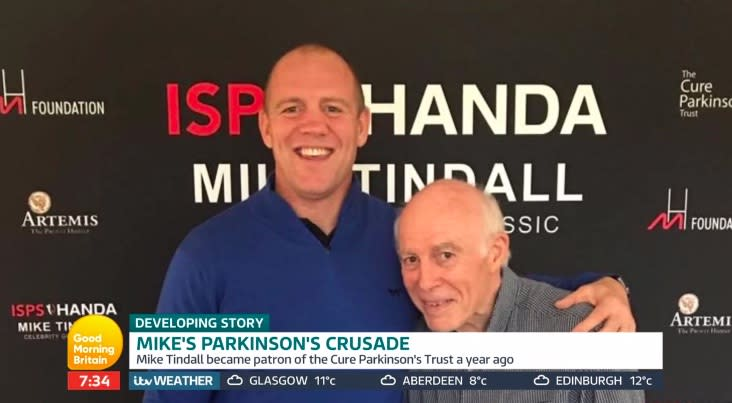 Mike Tindall photographed alongside his father [Photo: Good Morning Britain]