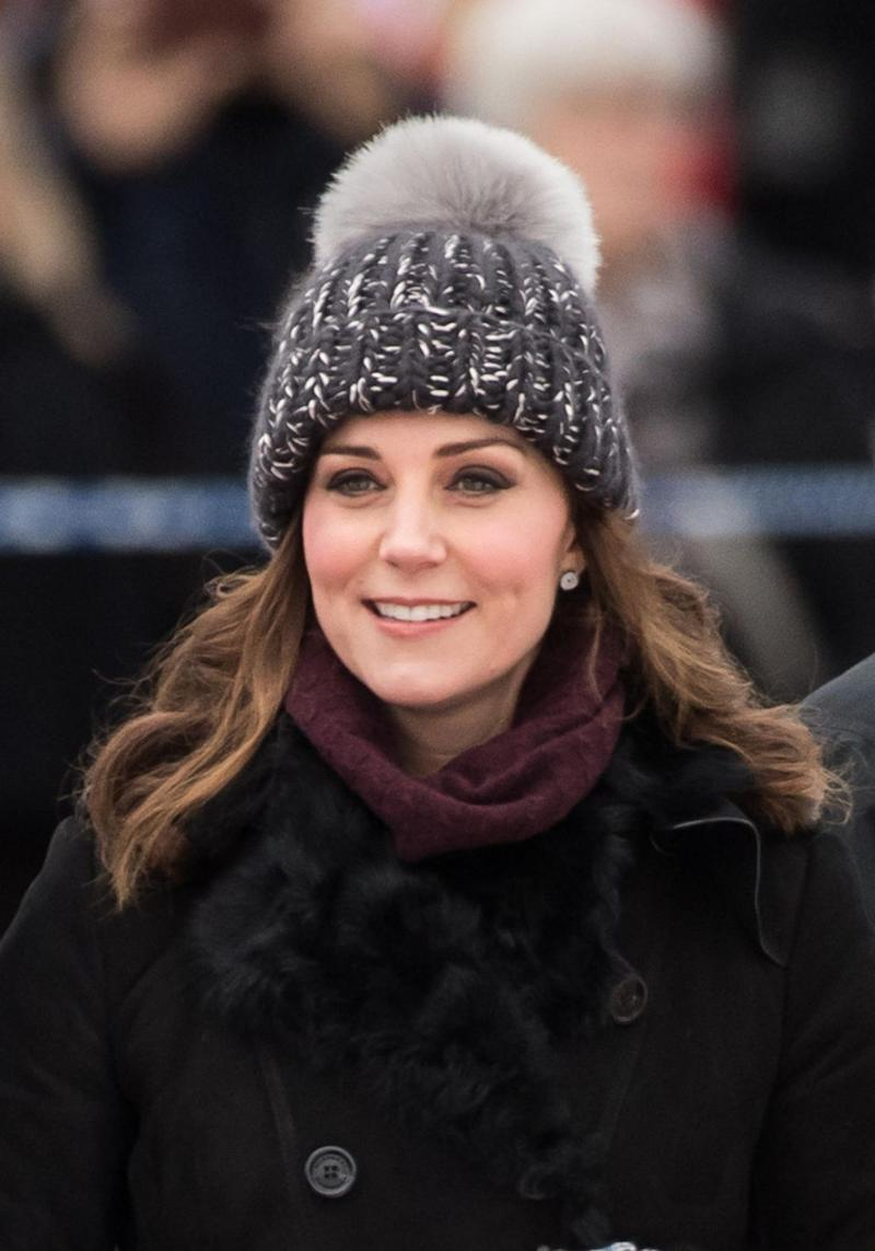 Kate's choice of beanie in Sweden was questioned online. Photo: Getty