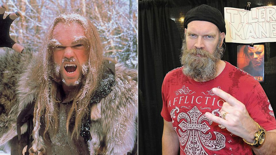 Tyler Mane - Sabretooth - pictured in <i>X-Men</i> and (R) at Halloween Con: 40 Years Of Terror, 2018.