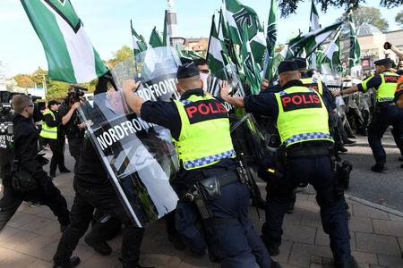 Jack-Booted Fascists: Dozens Arrested in Swedish Neo-Nazi March