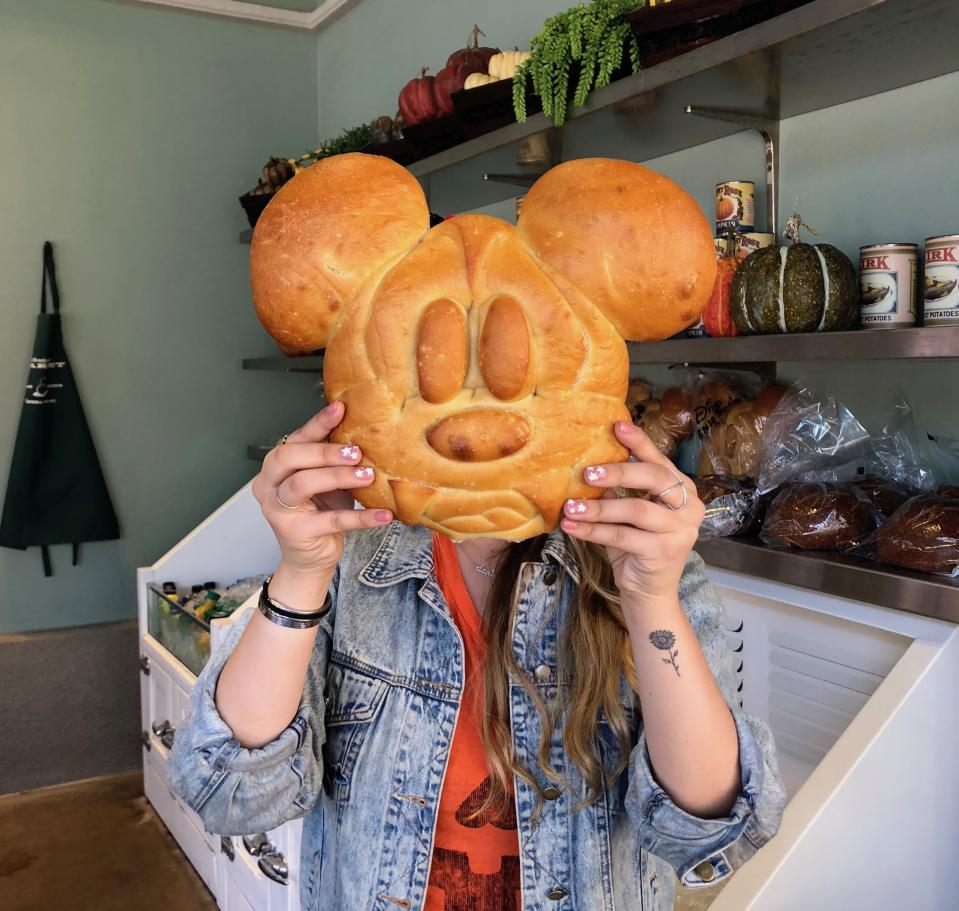 Spot the Mickey bread with fangs at Disney California Adventure. Photo credit: Angela Kim / Yahoo Lifestyle