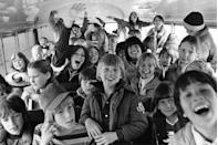 <p>Some kids get a bit rowdy on the bus ride to their elementary school. </p>