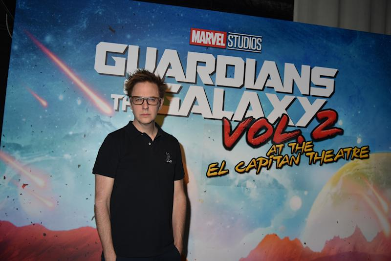 James Gunn attends a fan screening of 'Guardians of the Galaxy Vol. 2' on May 4th, 2017. (Photo by Brandon Williams/Getty Images)