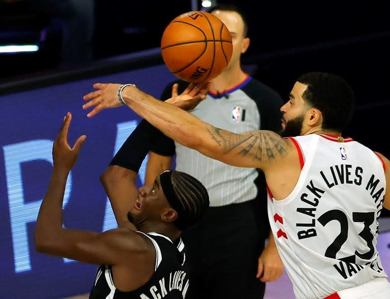 Powell has 24 points, Raptors beat Nets 104-99 to take 2-0 series lead