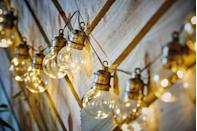"""<p>Create a glow in your garden with these solar festoon <a href=""""https://www.prima.co.uk/home-ideas/home-accessories-buys/g36391887/best-solar-garden-lights/"""" rel=""""nofollow noopener"""" target=""""_blank"""" data-ylk=""""slk:lights"""" class=""""link rapid-noclick-resp"""">lights</a> (£9.99), which get their energy from the sun. With a rustic feel, they are ideal for stringing along a fence. </p><p><a class=""""link rapid-noclick-resp"""" href=""""https://www.aldi.co.uk/c/specialbuys/garden-shop"""" rel=""""nofollow noopener"""" target=""""_blank"""" data-ylk=""""slk:SHOP NOW"""">SHOP NOW</a></p>"""