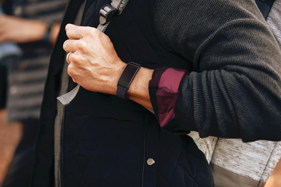 Lifestyle photo of Fitbit Charge 4.