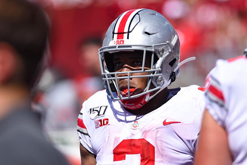 Ohio State RB J.K. Dobbins could have a breakout game up in Lincoln. (Getty Images)