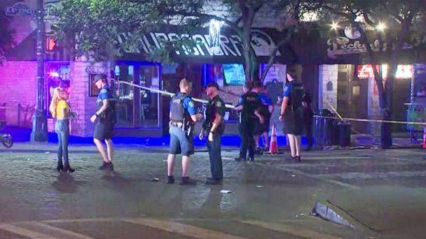 PHOTO: Police respond to a shooting on the 400 block of 6th St in Austin, Texas, June 12, 2021. (KVUE)