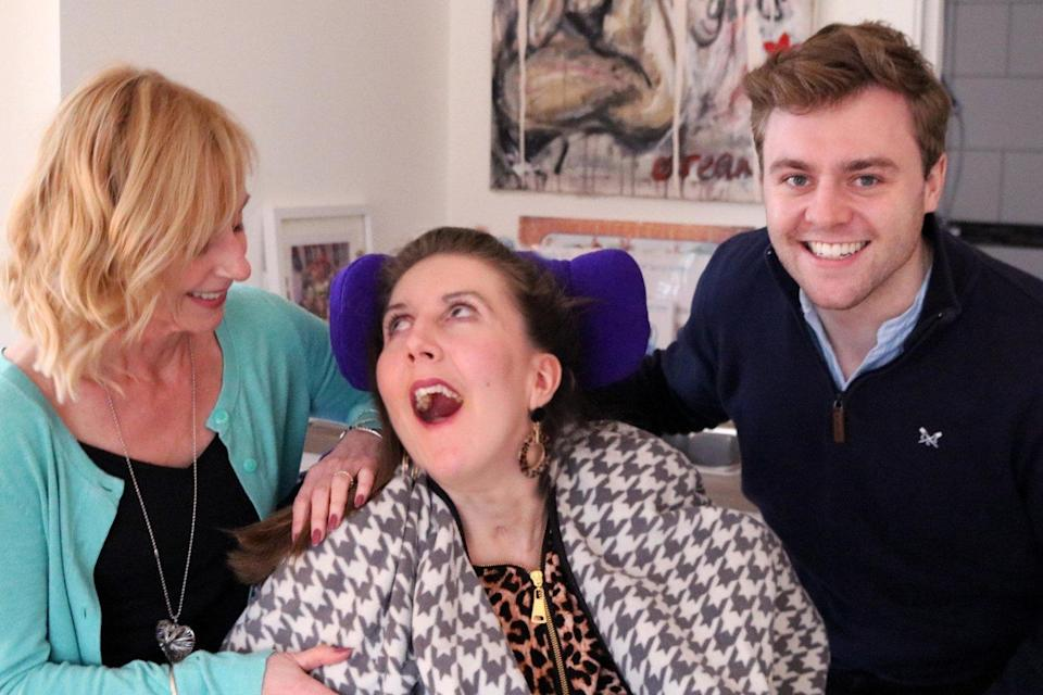 Amy with her aunt Julie Martin and cousin Tom, who founded the Amy May Trust (Amy May Trust)