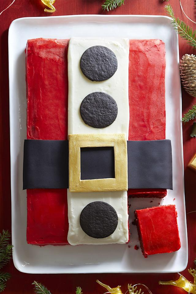 "<p>Enjoy a slice of good ol' St.Nick to kick off the holiday season. </p><p><a rel=""nofollow"" href=""http://www.womansday.com/food-recipes/food-drinks/recipes/a60667/santa-cake-recipe/""></a><strong><a rel=""nofollow"" href=""http://www.womansday.com/food-recipes/food-drinks/recipes/a60667/santa-cake-recipe/"">Get the recipe.</a></strong></p>"