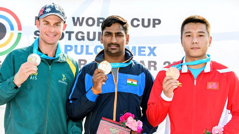 India's Ankur Mittal Wins Double Trap Gold at Shotgun World Cup