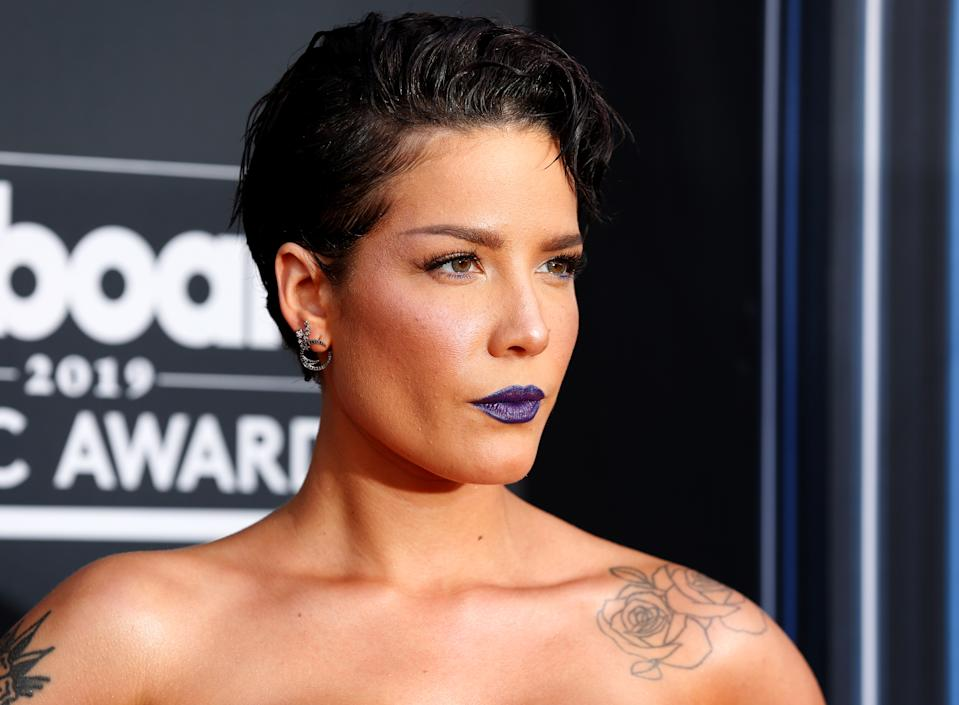 2019 Billboard Music Awards– Arrivals – Las Vegas, Nevada, U.S., May 1, 2019 – Halsey. REUTERS/Steve Marcus