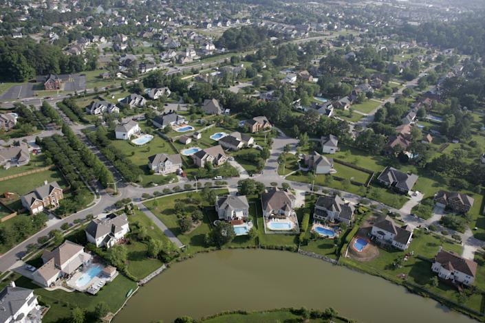 Virginia, Virginia Beach, Aerial. (Photo by: Jeff Greenberg/Universal Images Group via Getty Images)