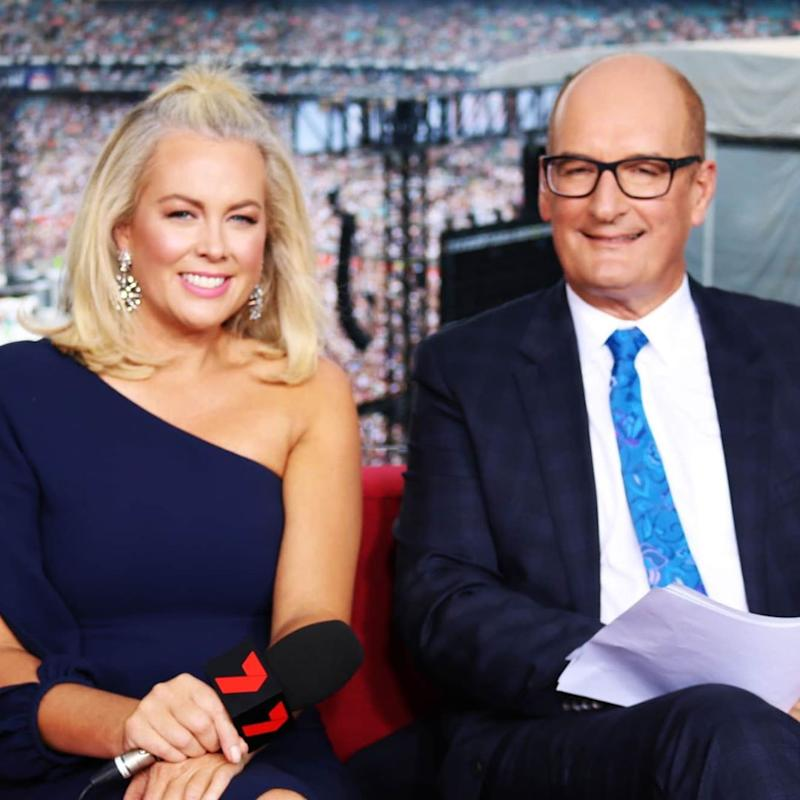 Kochie and his current Sunrise co-host Sam Armytage. Photo: Channel 7.