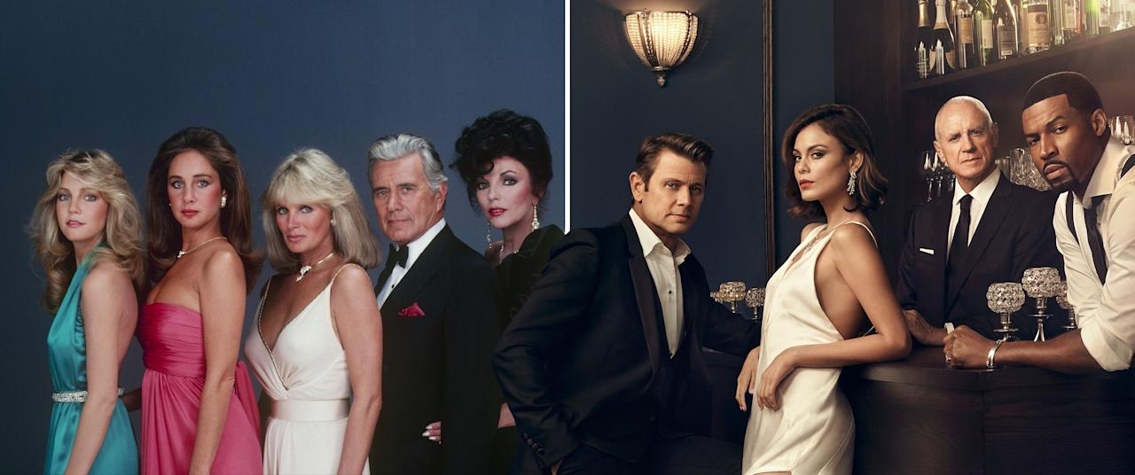 "<p>The shiny new reboot of classic American soap opera <em>Dynasty</em> hasn't just shifted the setting from Denver, Colorado to Atlanta, Georgia – it's made several changes to the characters, too.</p><p>With <a rel=""nofollow"" href=""http://www.digitalspy.com/tv/desperate-housewives/news/a844160/dynasty-reboot-casts-nicollette-sheridan-as-alexis-carrington/"">Nicollette Sheridan replacing Joan Collins</a> as Alexis, Sammy Jo changing from a woman to a gay man, and the Colby family reborn entirely as African-American, it's a pleasingly dramatic raft of changes.</p><p>We've rounded up the original cast and their modern-day counterparts to show how the new series differs from the '80s outing.</p>"