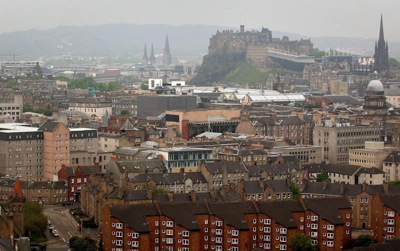 A general view of the city of Edinburgh, with Edinburgh Castle in the background as the number of confirmed cases of Legionnaires' disease following a deadly outbreak rises Thursday June 7, 2012. Health officials in Scotland say there are now 51 confirmed cases of Legionnaires' disease in an outbreak that has left one man dead. Scottish Health Secretary Nicola Sturgeon reported the latest number of cases in the Edinburgh-area outbreak to Scotland's Parliament on Thursday. (AP Photo/David Cheskin/PA Wire) UNITED KINGDOM OUT
