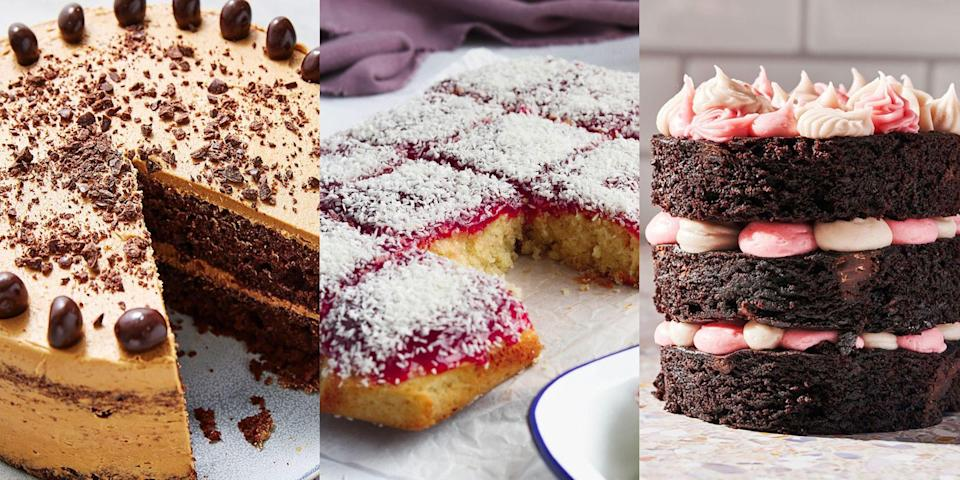 """<p>If the past year's taught us anything, it's that us Brits LOVE to <a href=""""https://www.delish.com/uk/easy-baking-recipes/"""" rel=""""nofollow noopener"""" target=""""_blank"""" data-ylk=""""slk:bake"""" class=""""link rapid-noclick-resp"""">bake</a>. Whether it's <a href=""""https://www.delish.com/uk/cooking/recipes/g28843835/banana-bread-recipes/"""" rel=""""nofollow noopener"""" target=""""_blank"""" data-ylk=""""slk:Banana Bread"""" class=""""link rapid-noclick-resp"""">Banana Bread</a>, <a href=""""https://www.delish.com/uk/cooking/recipes/g28795936/cupcake-recipe/"""" rel=""""nofollow noopener"""" target=""""_blank"""" data-ylk=""""slk:Cupcakes"""" class=""""link rapid-noclick-resp"""">Cupcakes</a> or <a href=""""https://www.delish.com/uk/cooking/recipes/g30220794/cookie-recipes/"""" rel=""""nofollow noopener"""" target=""""_blank"""" data-ylk=""""slk:Cookies"""" class=""""link rapid-noclick-resp"""">Cookies</a> - we're big fans of easy homemade recipes that require an oven (especially easy cake recipes). With everything from Six-Ingredient <a href=""""https://www.delish.com/uk/cooking/recipes/a28867437/lemon-drizzle-cake/"""" rel=""""nofollow noopener"""" target=""""_blank"""" data-ylk=""""slk:Lemon Drizzles"""" class=""""link rapid-noclick-resp"""">Lemon Drizzles</a> to <a href=""""https://www.delish.com/uk/cooking/recipes/a35764575/jam-and-coconut-sponge/"""" rel=""""nofollow noopener"""" target=""""_blank"""" data-ylk=""""slk:Jam & Coconut Sponges"""" class=""""link rapid-noclick-resp"""">Jam & Coconut Sponges</a> (nostalgic or what?), or <a href=""""https://www.delish.com/uk/cooking/recipes/a35530100/mini-chocolate-raspberry-cake-recipe/"""" rel=""""nofollow noopener"""" target=""""_blank"""" data-ylk=""""slk:Mini Chocolate Cakes"""" class=""""link rapid-noclick-resp"""">Mini Chocolate Cakes</a> to full-blown <a href=""""https://www.delish.com/uk/cooking/recipes/a29571751/espresso-martini-cake/"""" rel=""""nofollow noopener"""" target=""""_blank"""" data-ylk=""""slk:Espresso Martini Cakes"""" class=""""link rapid-noclick-resp"""">Espresso Martini Cakes</a>, we've got a whole range of easy recipes for you to try at home. So, if you're looking to level up your amateur baking skills, go """