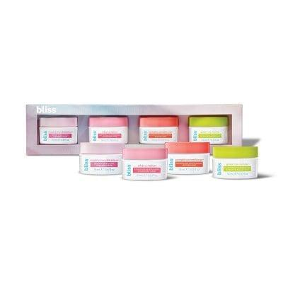<p>The <span>Bliss Mask for More Skincare Set</span> ($10) gives you four masks to choose from, each of which is made to brighten and clarify the skin.</p>