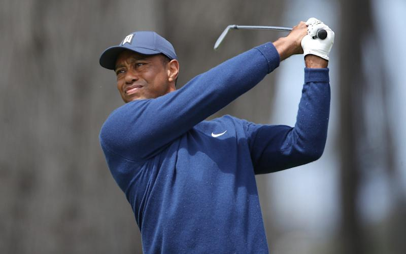 Tiger Woods impressed in the first round of his first major in 13 months - GETTY IMAGES