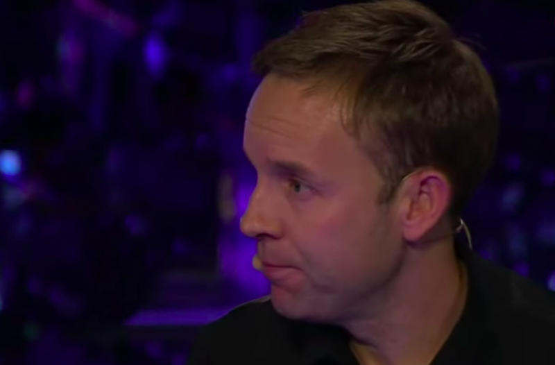Ali Carter after his first-round match at the Masters