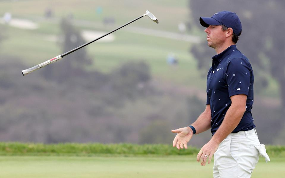 Rory McIlroy endured and up and down day but heads into the weekend on one-over par - GETTY IMAGES