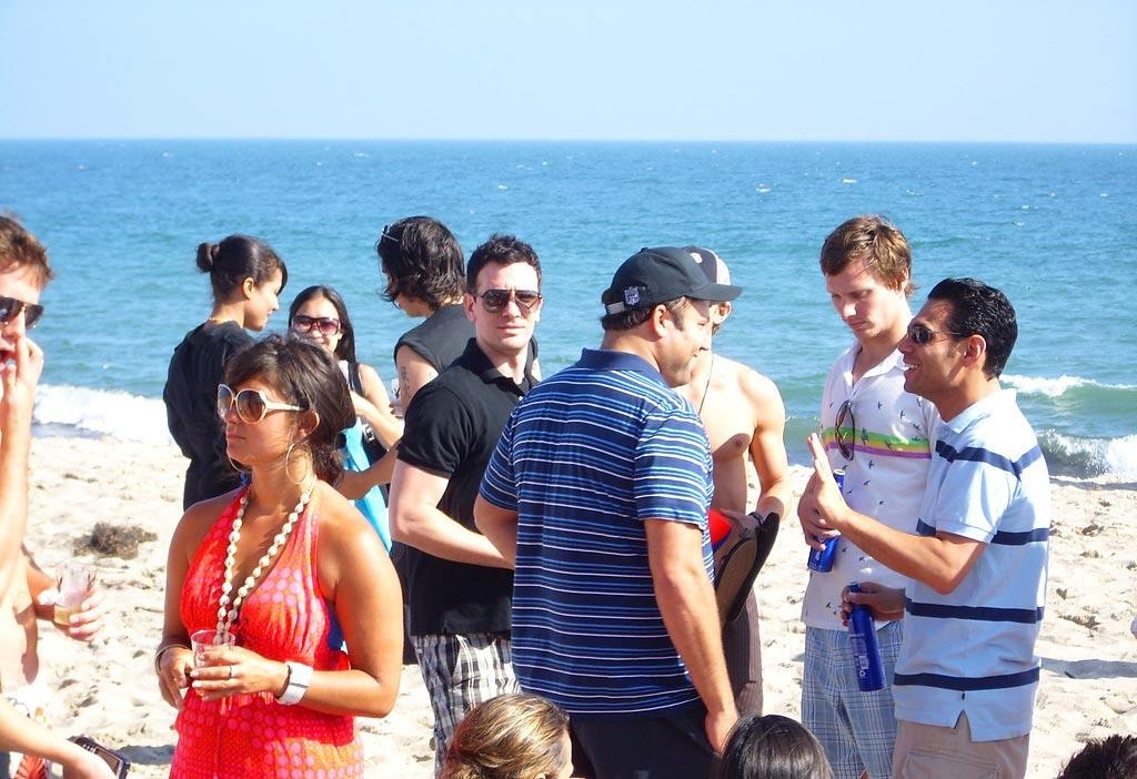 Looks like *NSYNC's JC Chasez has a new band of boys. omg! Staff/Polaroid Malibu Beach House - August 13, 2007