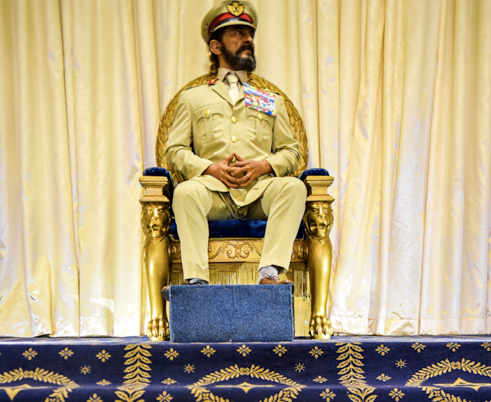 The life-size waxwork of Haile Selassie at the Imperial Palace - October 2019